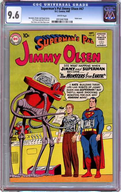 CGC Graded Comics - Superman's Pal Jimmy Olsen #47 (CGC) - Robot - Cape - Machine - Superman - Red