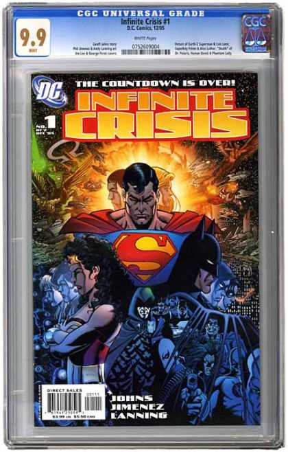 CGC Graded Comics - Infinite Crisis #1 (CGC) - Infinite Crisis - The Countdown Is Over - Superman - Batman - Wonder Woman