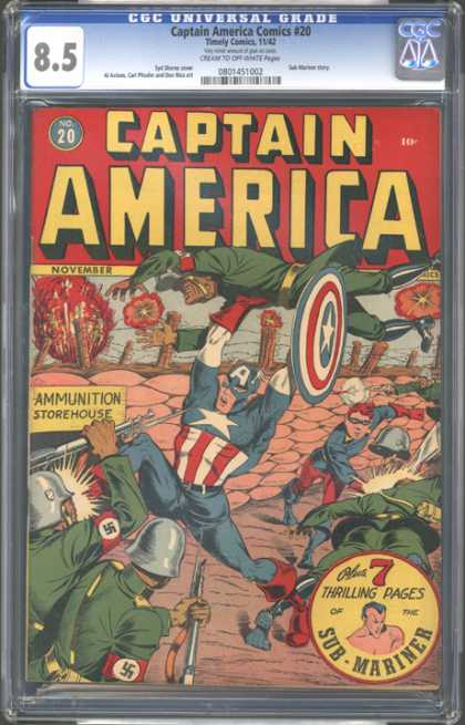 CGC Graded Comics - Captain America Comics #20 (CGC)