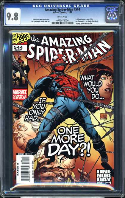 CGC Graded Comics - Amazing Spider-Man #544 (CGC) - What Would You Do - Marvel - If You Only Had - One More Day - One Woman