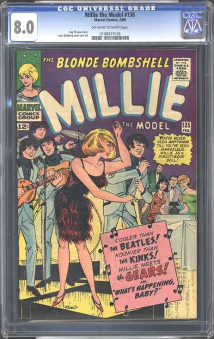 CGC Graded Comics - Millie the Model #135 (CGC) - Band - Woman - Dancing - Guitar - Cymbals