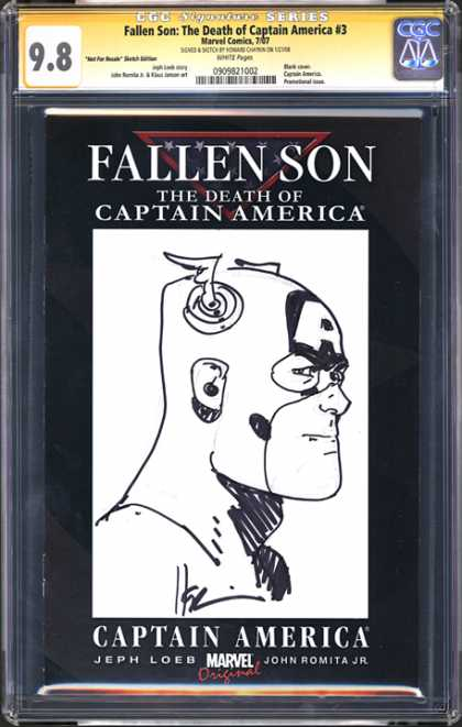 CGC Graded Comics - Fallen Son: The Death of Captain America #3 (CGC) - Death Of Captain America - Fallen Son - Black And White - Superhero - Marvel