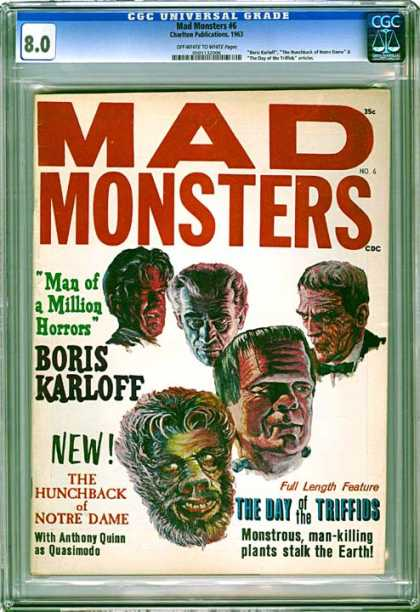 CGC Graded Comics - Mad Monsters #6 (CGC) - Monster - Warewolf - Frankenstein - Hairy - Scary