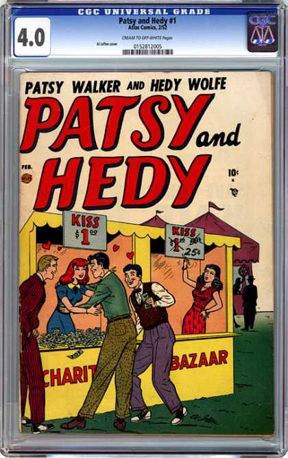 CGC Graded Comics - Patsy and Hedy #1 (CGC) - Patsy - Hedy - Grade - Kiss - Wolfe