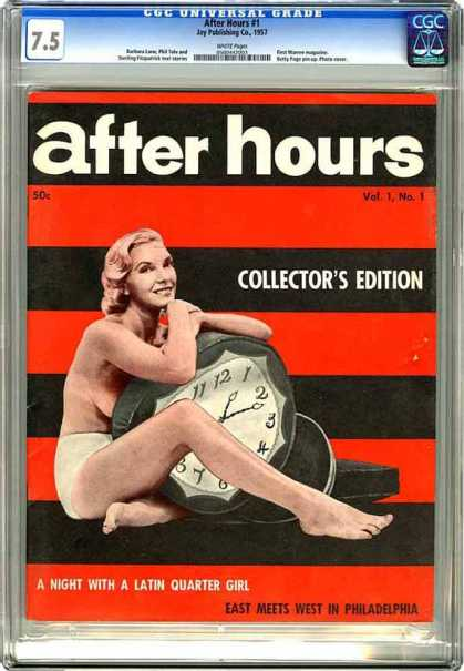 CGC Graded Comics - After Hours #1 (CGC) - Clock - Woman - Stripes - Collector - Half Naked