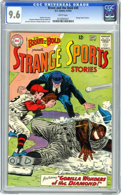 CGC Graded Comics - Brave and the Bold #49 (CGC) - Gorilla Wonders Of The Diamond - The Brave And The Bold - Baseball - A Match With Gorilla - Ball