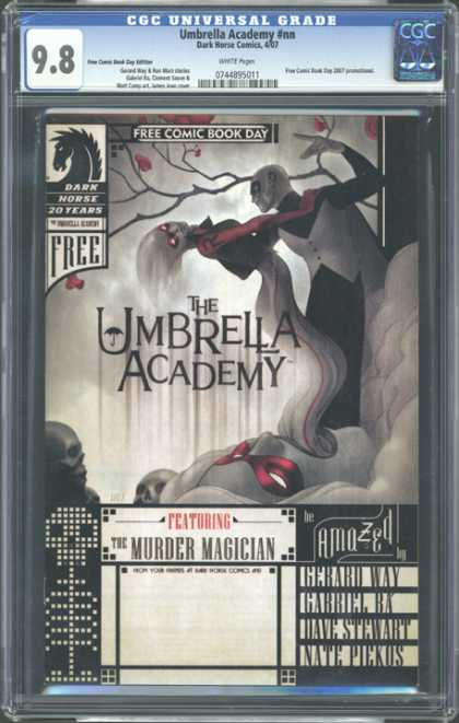 CGC Graded Comics - Umbrella Academy #nn (CGC) - The Magician - Murder In The Cemetery - The Killer Wore A Tuxedo - Misty Night - The Cemetery Is Alive