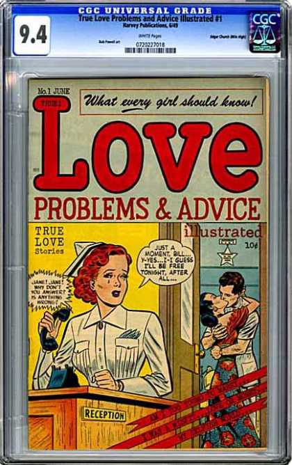 CGC Graded Comics - True Love Problems and Advice Illustrated #1 (CGC)