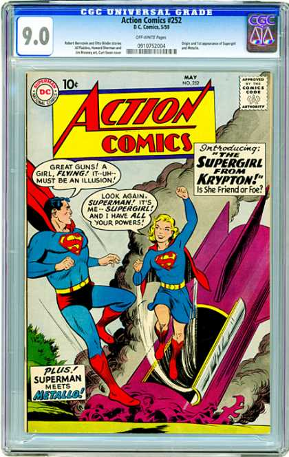 CGC Graded Comics - Action Comics #252 (CGC)