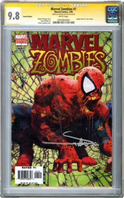 CGC Graded Comics - Marvel Zombies #1 (CGC) - Rated T - Marvel Zombies - Spiderman - 98 - Series