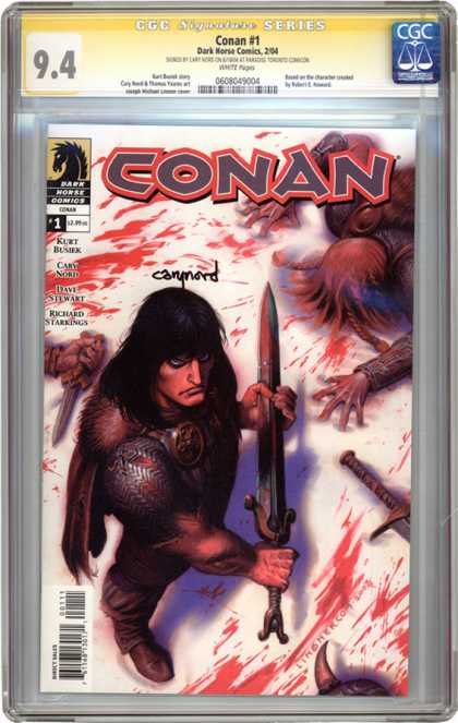 CGC Graded Comics - Conan #1 (CGC) - Conan - Barbarian - Sword - Blood - Dead