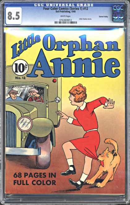 CGC Graded Comics - Four Color Comics (Series 1) #12 (CGC) - Little Orphan Annie - 10 Cents - Truck - Dog - Drivers