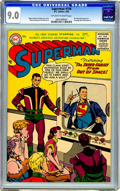 CGC Graded Comics - Superman #104 (CGC) - Dc - 10c - Mar No 154 - The Super Family From Out Of Space