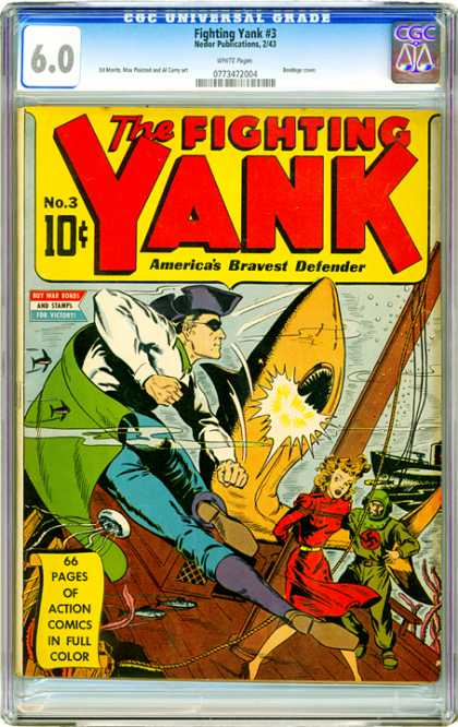 CGC Graded Comics - Fighting Yank #3 (CGC)