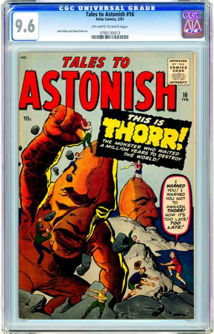 CGC Graded Comics - Tales to Astonish #16 (CGC) - Rampage - Giant - Rock - Mountain - Awaken