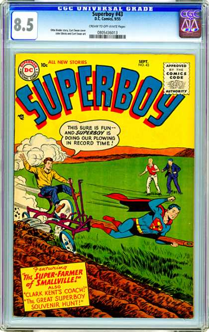 CGC Graded Comics - Superboy #43 (CGC)