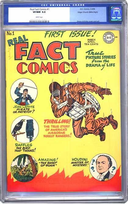 CGC Graded Comics - Real Fact Comics #1 (CGC)