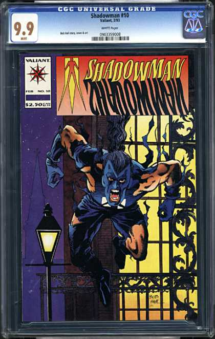 CGC Graded Comics - Shadowman #10 (CGC) - Shadowman - Valiant - Attack - Scary - Blue