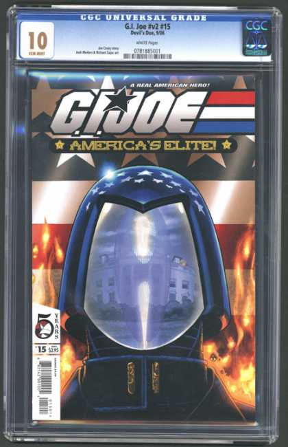 CGC Graded Comics - G.I. Joe #v2 #15 (CGC) - Gi Joe - Americas Elite - Capitol - Helmet - Burning Flag