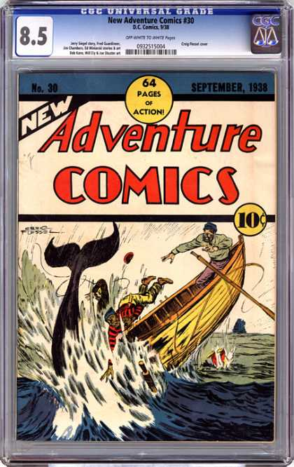CGC Graded Comics - New Adventure Comics #30 (CGC)