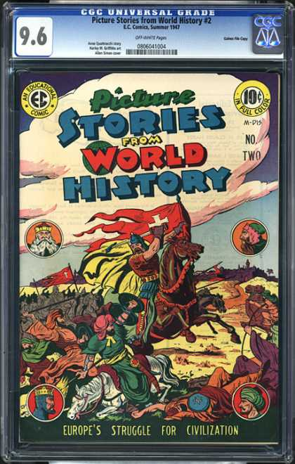 CGC Graded Comics - Picture Stories from World History #2 (CGC) - Picture Stories - World History - Horse - Europes Struggle For Civilization - War