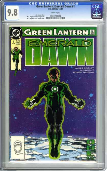 CGC Graded Comics - Green Lantern: Emerald Dawn #1 (CGC) - Space - Center - Hal Jordan - Power Ring - 1