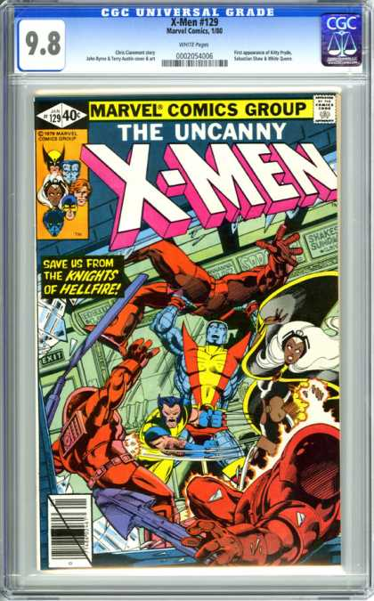 CGC Graded Comics - X-Men #129 (CGC) - X-men - Wolverine - Storm - Uncanny - Marvel