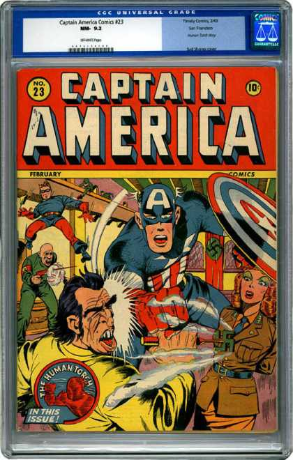 CGC Graded Comics - Captain America Comics #23 (CGC)