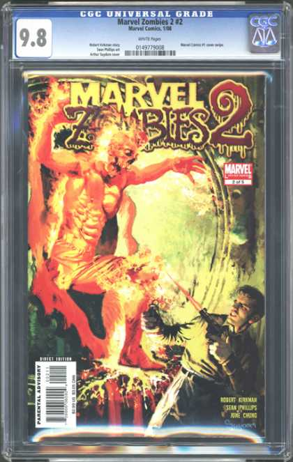 CGC Graded Comics - Marvel Zombies 2 #2 (CGC) - Marvel - Zombies 2 - Man - Laser Gun - Weapon