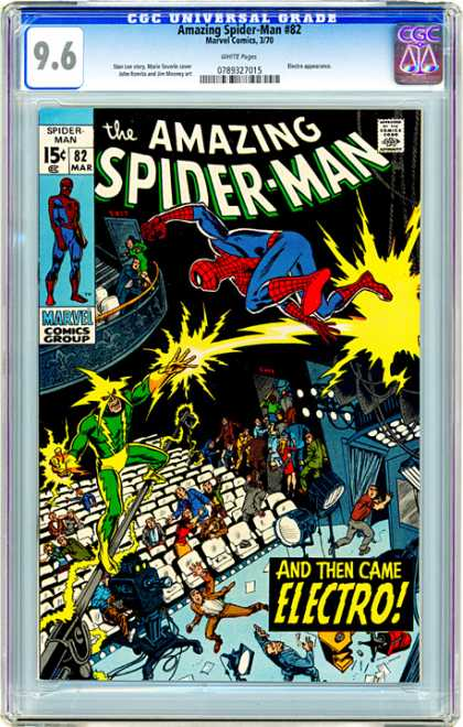 CGC Graded Comics - Amazing Spider-Man #82 (CGC) - Amazing Spider-man - Battle - Marvel - Comics Code - Electro