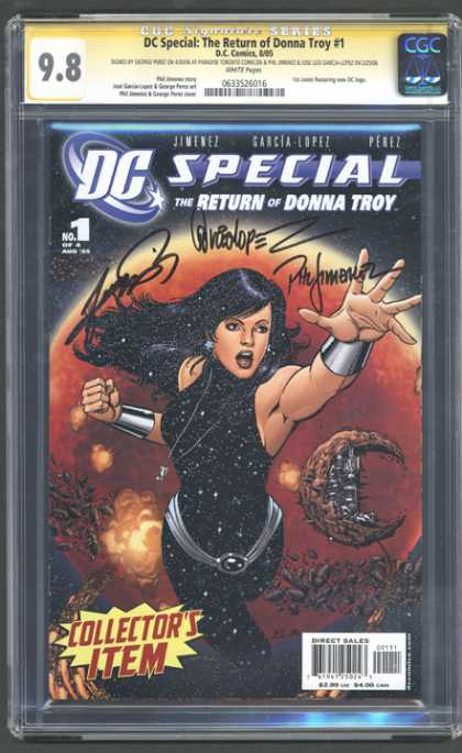 CGC Graded Comics - DC Special: The Return of Donna Troy #1 (CGC)