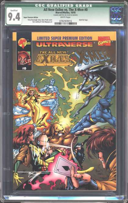 CGC Graded Comics - All New Exiles vs. The X-Men #0 (CGC) - Card - Limited - Premium - Comics - Exiles