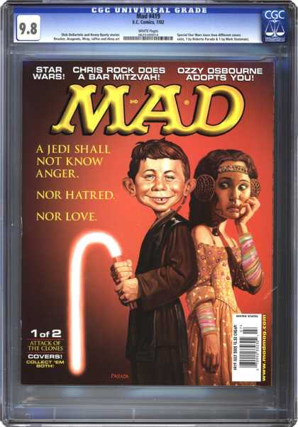 CGC Graded Comics - Mad #419 (CGC) - What Me Worry - Star Wars - Jedi - Princess Leah - Impotence
