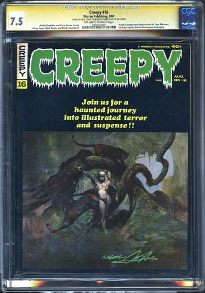 CGC Graded Comics - Creepy #16 (CGC) - Creepy - August - Suspense - Haunted Journey - 40 Cents