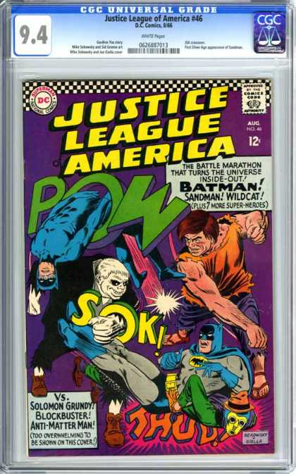 CGC Graded Comics - Justice League of America #46 (CGC) - Justice League America - Batman - Solomon Grundy - Blockbuster - Superman
