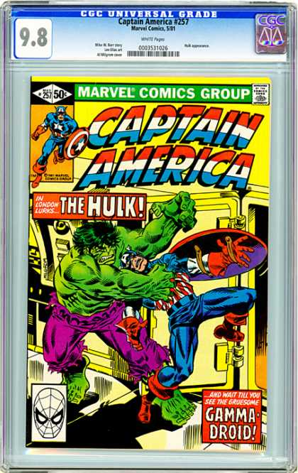 CGC Graded Comics - Captain America #257 (CGC)