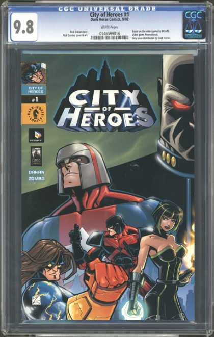 CGC Graded Comics - City of Heroes #1 (CGC) - Cgc Universal Grade - Dakan Zombo - Dark Horse Comics - Heories - Fire