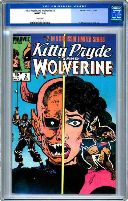 CGC Graded Comics - Kitty Pryde and Wolverine #2 (CGC) - Limited Series - 2 In A Six Series - Kitty Pryde - Wolverine - Sword