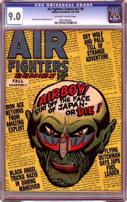 CGC Graded Comics - Air Fighters Comics #v2 #8 (CGC)