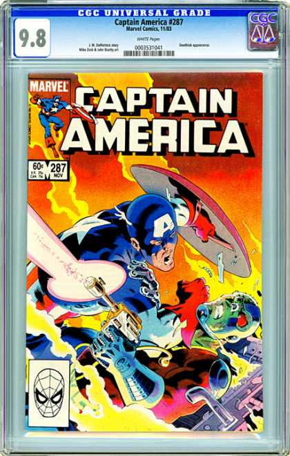 CGC Graded Comics - Captain America #287 (CGC)