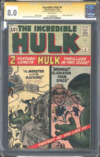 CGC Graded Comics - Incredible Hulk #4 (CGC)