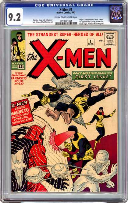 CGC Graded Comics - X-Men #1 (CGC) - First Issue - The Strangest Super-heros Of All - Fantastic Four - Magneto - Earths Most Powerful Super Villan