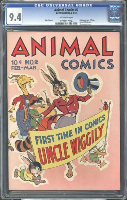 CGC Graded Comics - Animal Comics #2 (CGC) - Uncle Wiggly - Rabbit - Goat - Raccoon - Antique