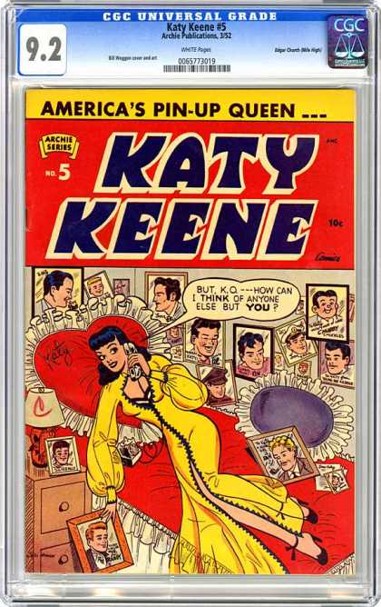 CGC Graded Comics - Katy Keene #5 (CGC) - Americas Pin-up Queen - Katy Keene - But Ko - How Can I Think Of Anyone Else But You - Archie Series - Pin Up Pictures