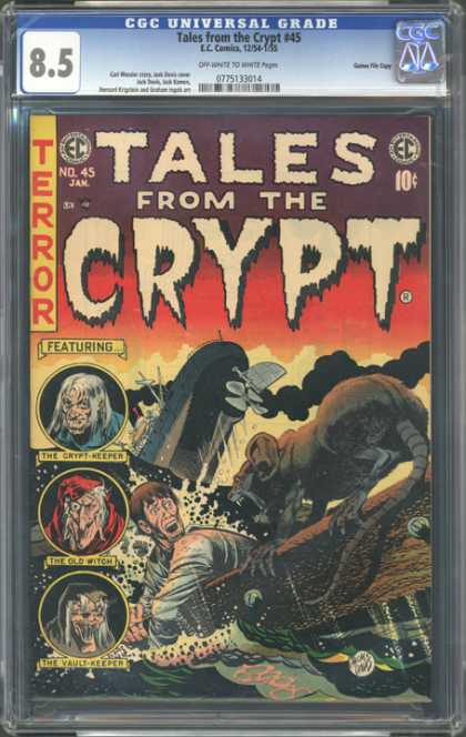 CGC Graded Comics - Tales from the Crypt #45 (CGC) - Tales From The Crypt - Rat - Ship - The Old Witch - The Crypt-keeper