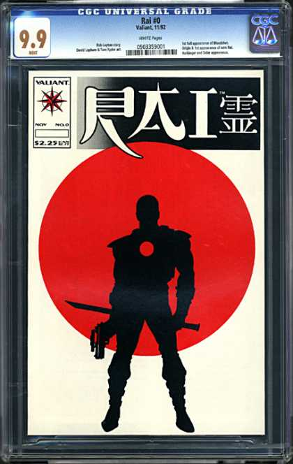 CGC Graded Comics - Rai #0 (CGC) - Rai 0 - 99 - Valiant - Samurai - Red Sun