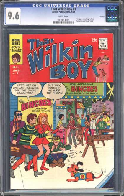 CGC Graded Comics - That Wilkin Boy #1 (CGC) - Dog - Guitar - Police Line Saw Horse - Party - Drummer