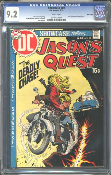 CGC Graded Comics - Showcase #89 (CGC) - Jasons Quest - The Deadly Chase - Motorcycle - Chase - Crash