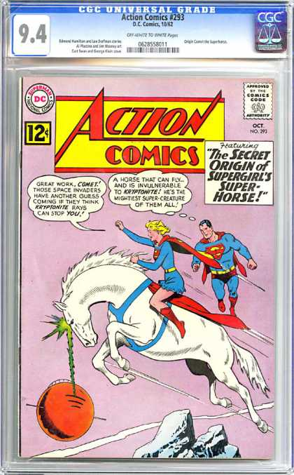 CGC Graded Comics - Action Comics #293 (CGC)