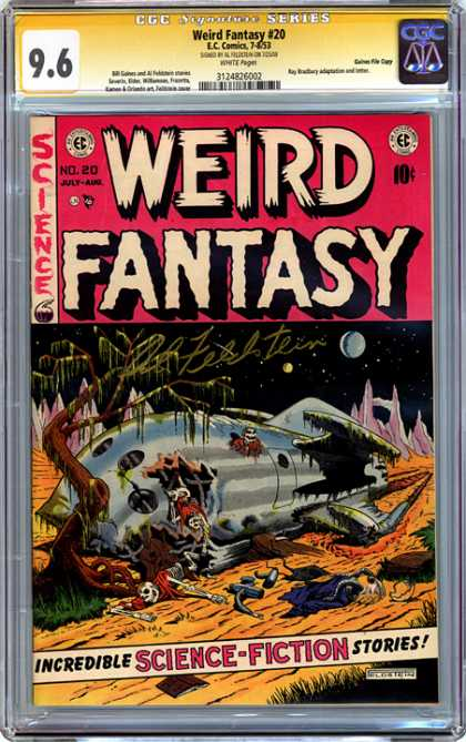 CGC Graded Comics - Weird Fantasy #20 (CGC) - Weird Fantasy - No 20 - Science Fiction - Skeleton - Spaceship